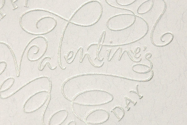 L Letterpress print with Paperwhite Studio calligraphy