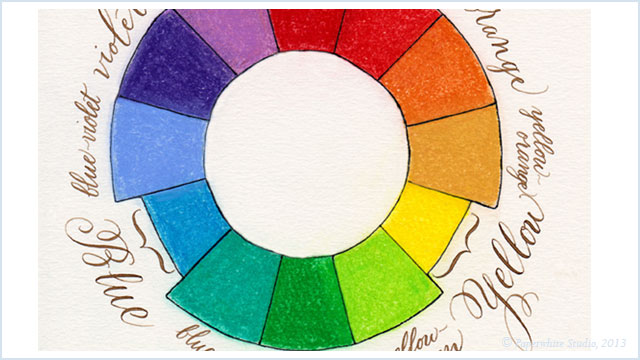 calligraphy color wheel @ paperwhitestudio.com