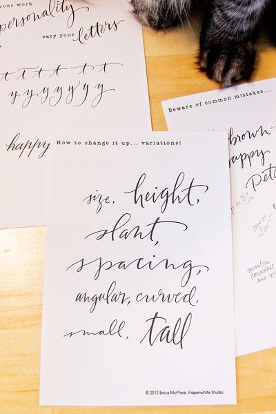 contemporary lettering @ Paperwhite Studio